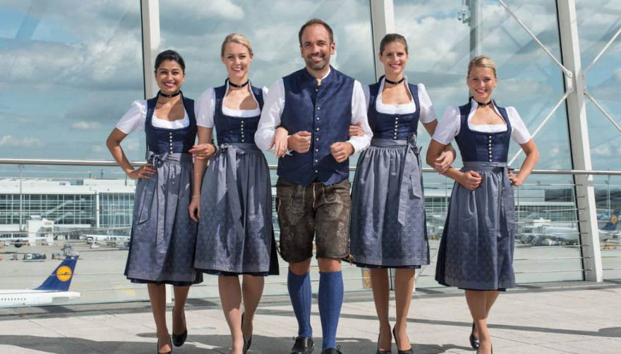 Oktoberfest on Lufthansa flights